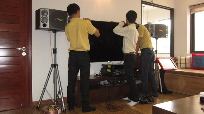 Hoàng Audio setup phòng karaoke cho khách hàng