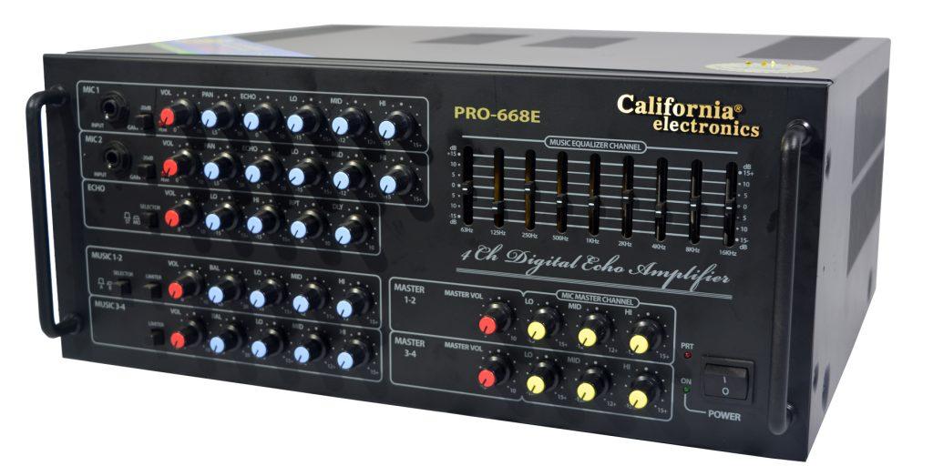 Amply California 668E với những núm vặn nổi bật