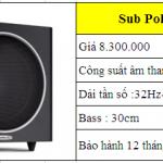 Tư vấn chọn mua loa Sub, Cục trầm hát karaoke bộ dàn tầm 50 triệu