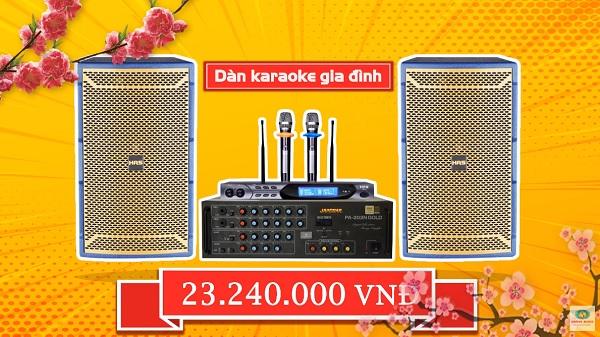Bộ dàn karaoke gia đình chú Tuyên