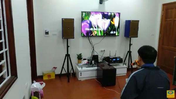 dàn karaoke gia đình anh Đào tại Long Biên