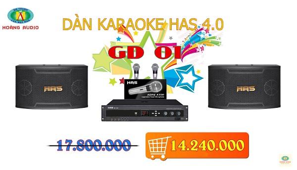 dàn karaoke gia đình has gd01