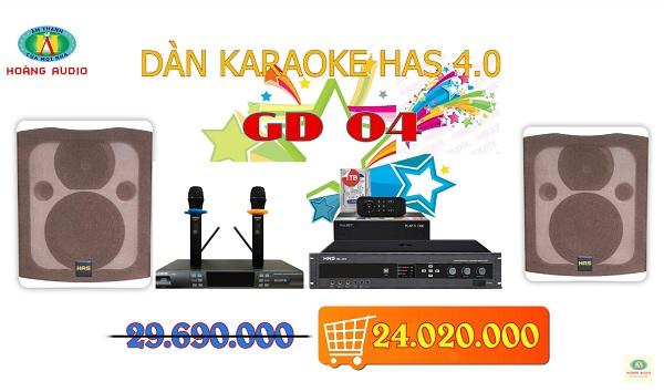 dàn karaoke gia đình has gd04