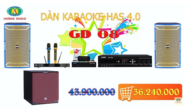 dàn karaoke has 4.0 gd08